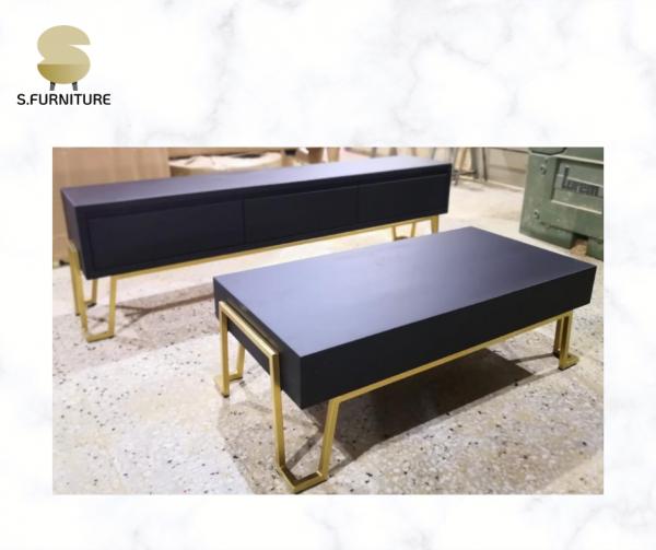 סט (מזנון + שולחן) דגם יהלום שחור